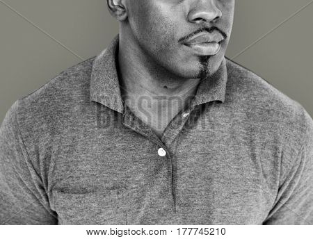African Descent Man Neutral Candid