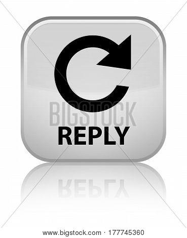 Reply (rotate Arrow Icon) Special White Square Button