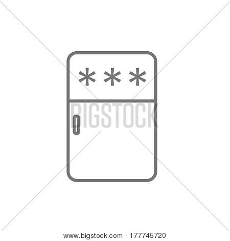 fridge icon . refrigerator simple symbol. Vector fridge