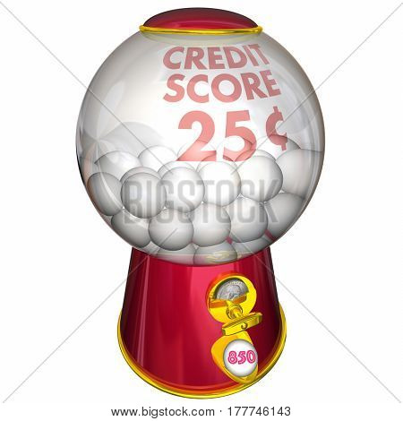 Credit Score Gumball Machine Better Improved Rating 3d Illustration