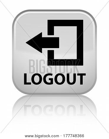 Logout Special White Square Button