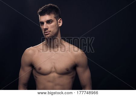 One Young Man, Looking Sideways, Reflectors Shirtless Body