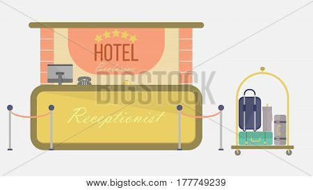 Hotel Vector Illustration | Conceptual background design vector | Use for building, architecture, construction, interior and much more. The set can be used for several purposes like: websites, print templates, presentation templates, and promotional mater
