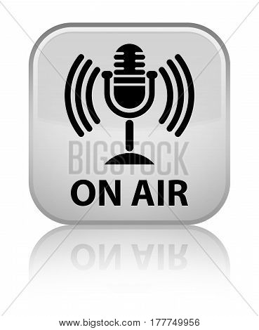 On Air (mic Icon) Special White Square Button