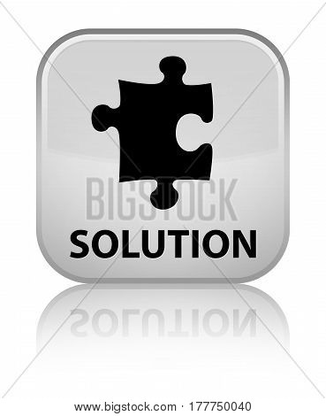 Solution (puzzle Icon) Special White Square Button