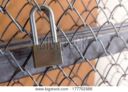 Safety lock security on a metal door