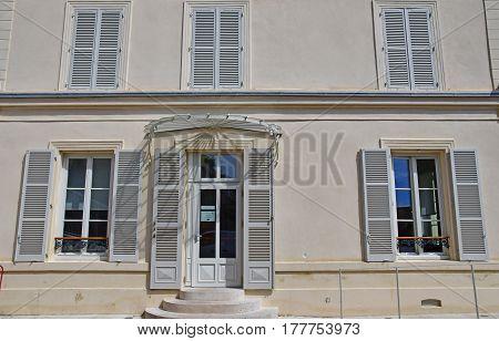 Auvers sur Oise France - august 14 2016 :the tourism office