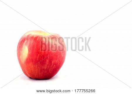 red ripe apple on white background healthy apple fruit food isolated