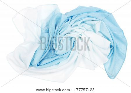 Blue scarf isolated on a white background
