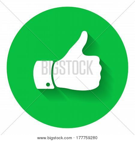 Thumb up symbol. Human hand icon. Sign of Like, good or cool