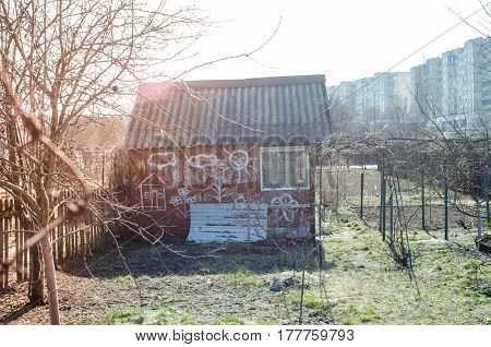 old House on the outskirts of picture.