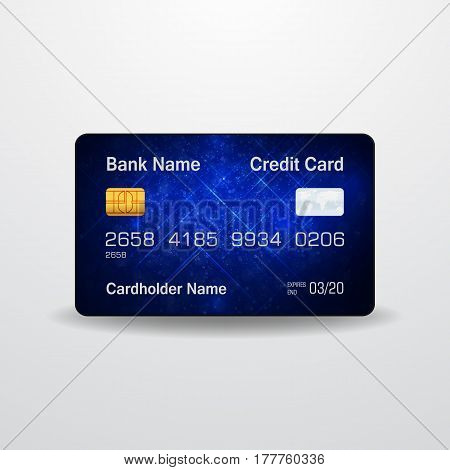 Detailed realistic vector credit card. Money, payment symbol