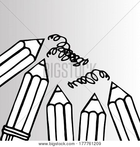 pencil vector illustration design school object art