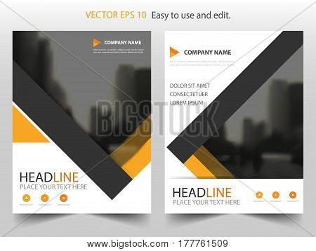 Yellow abstract Vector Brochure annual report Leaflet Flyer template design book cover layout design abstract business presentation template a4 size design
