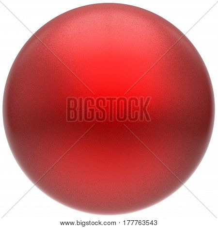 Sphere round button ball red basic matted circle geometric shape solid scarlet figure 3D render illustration isolated
