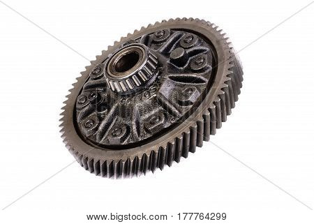 differential gear isolated on a white background .