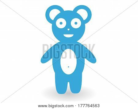 Vector illustration. Bear cub. A figurine made of paper. Different colors.