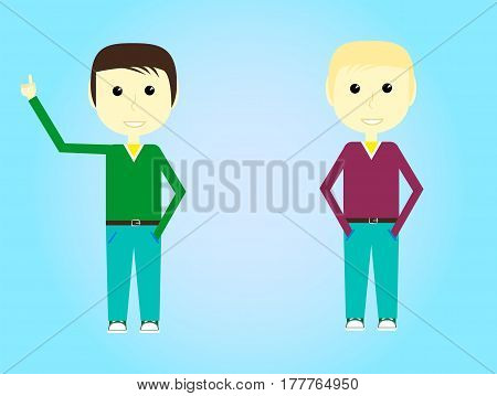Guy In Hoody Isolated Primitive Design Style Vector Illustration on White Background