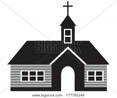 Church Icon Black cross crossing christianity choice simplicity