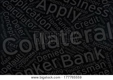 Collateral , Word cloud art background .