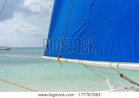Filipino Sail Boat On The Beach