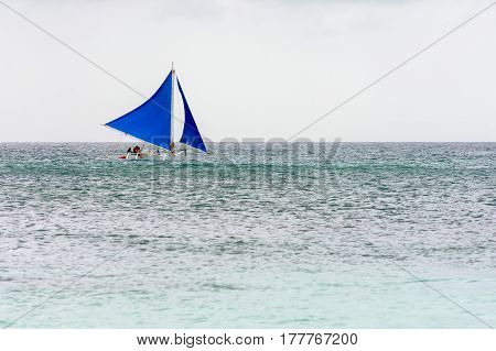 Filipino Pump Boat With Sails