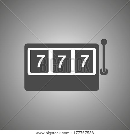 slot machine icon . slot machine with three 7