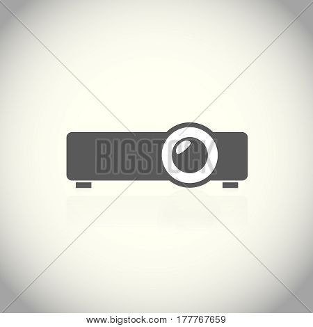 projector icon. Pictograph of projector in flat style