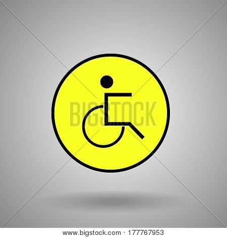 disabled person sign .man on  wheelchair symbol