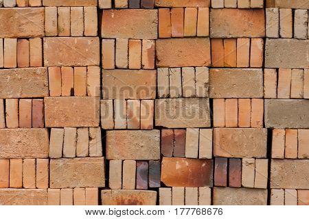 Basic Red House Bricks Stacked