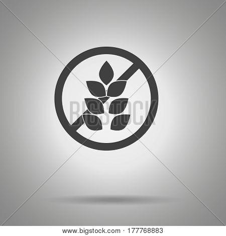 no gluten icon . crossed out gluten symbol