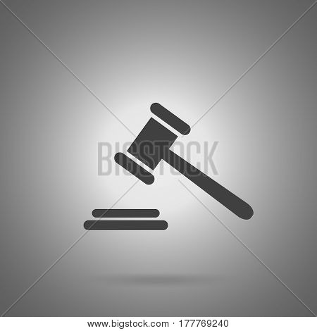 auction icon. Judge gavel. Justice illustration vector