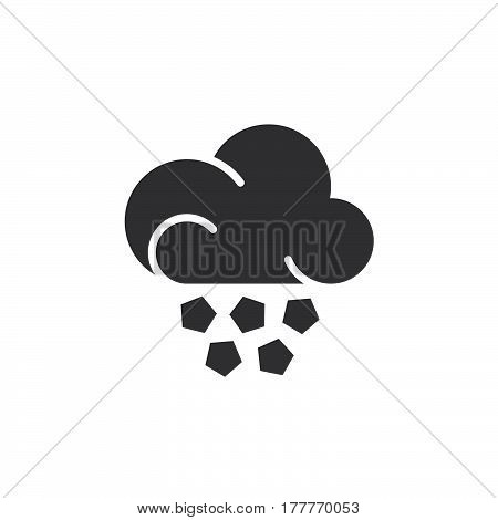 Hail cloud icon vector filled flat sign solid pictogram isolated on white. Weather forecast symbol logo illustration