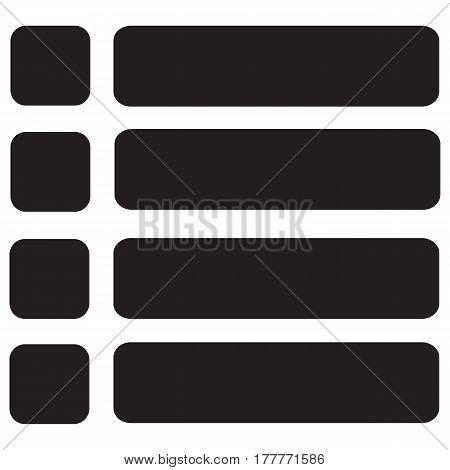 Menu vector icons button app portal web symbol