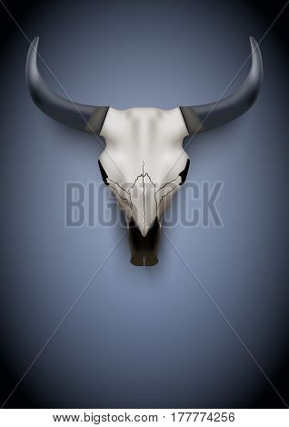 Animal Skull Poster. Party Invitation with animal skull.  Illustration Background