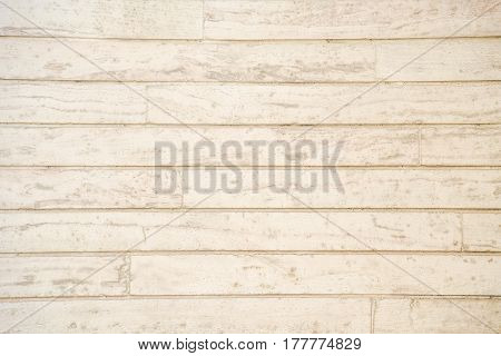Old grunge light beige wood plank pattern with beautiful abstract grain surface use for texture finishing vintage background or backdrop panel
