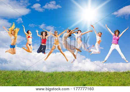 Jumping Together on a Meadow