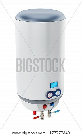 Water heater isolated on white background. 3D illustration.