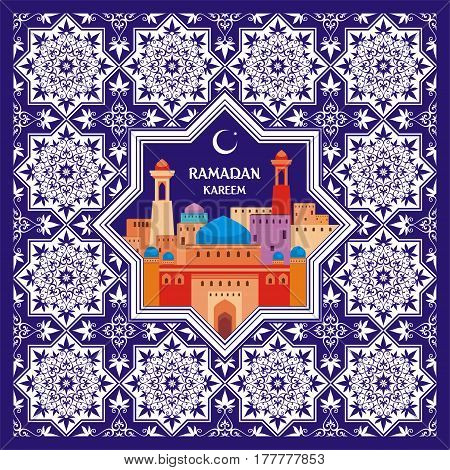Ramadan Greeting Card Blue.eps