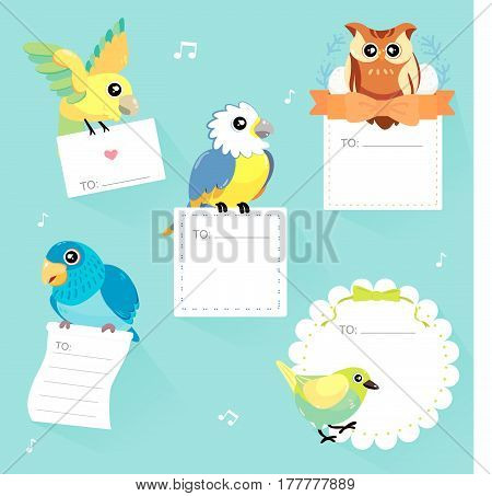 Lovable Birds Memo Collection