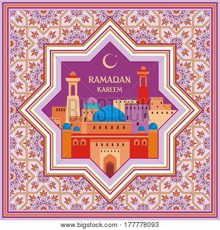 Ramadan Greeting Card Violet.eps