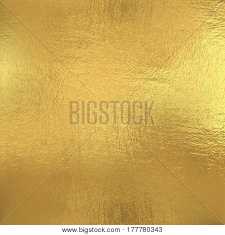Gold foil texture background, yellow metal paper for design