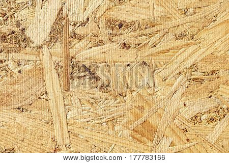 Pressed osb background wooden natural flat texture