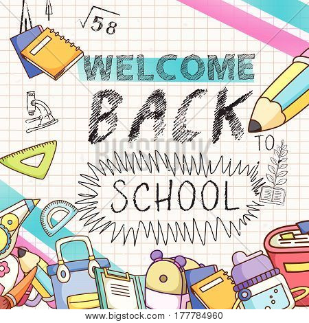 Lovable Welcome Back To School Background