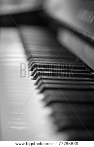 close up shot of an upright piano