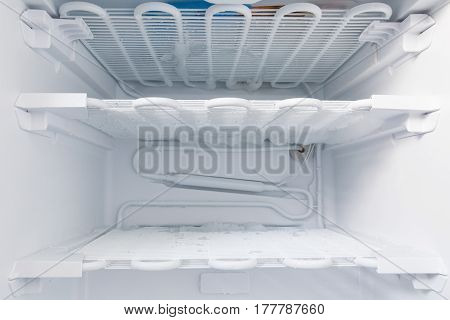 Freezer is defrosted to clean detail picture
