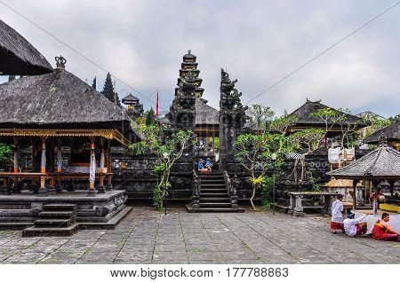 PURA BESAKIH, INDONESIA - SEPTEMBER 30, 2012: View of Pura Besakih Temple in Bali Island Indonesia