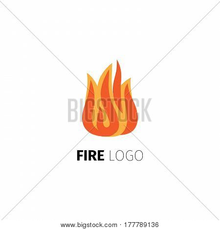 Fire icon. Vector fire flame logo template isolated on white background