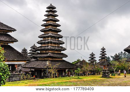 Roofs In Pura Besakih Temple, Bali, Indonesia