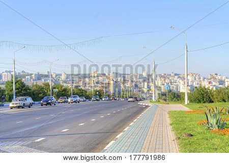 BELGOROD RUSSIA - August 30.2016:View on a city Belgorod. Transport on Vatutina Avenue